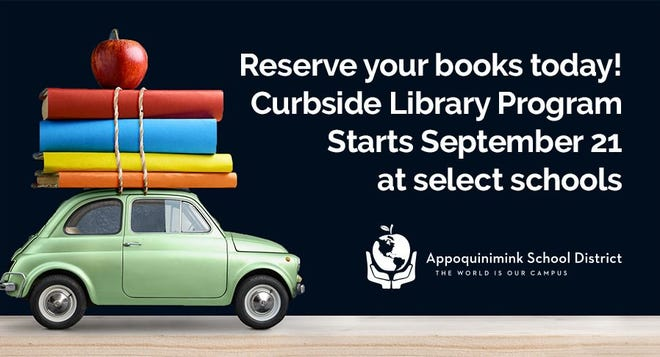 Appoquinimink School District libraries started curbside pickup Sept. 21 for books, texts, DVDs and other media to help students and families as they learn from home this fall.