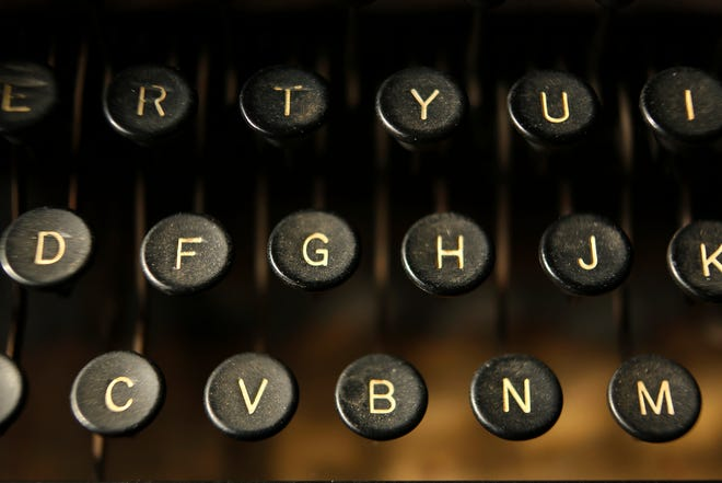 Typewriter keys, such as the ones on this vintage Remington Rand Model Seven model, can be repurposed in surprising ways, says Carleton Varney.