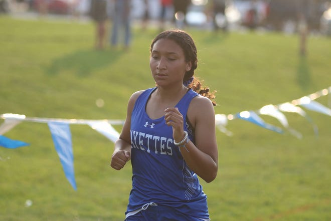 Cris Gomez competes in Adel on Monday, Sept. 21.