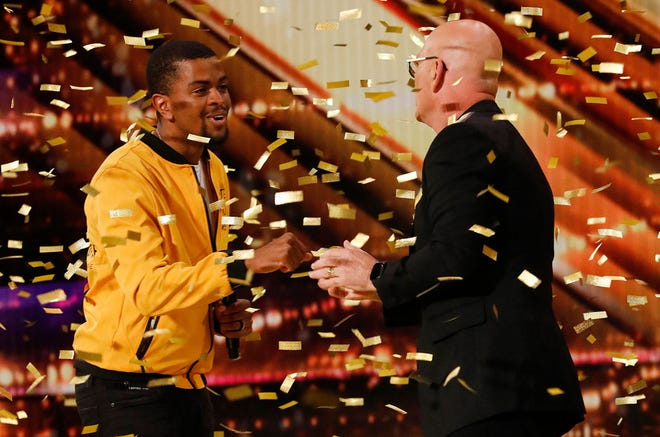 "Brandon Leake and Howie Mandel on ""America's Got Talent."""