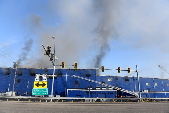 The Sept. 22 fire at American Axle & Manufacturing in Malvern caused so much damage that the company has decided to close the plant. (CantonRep.com / Julie Vennitti)