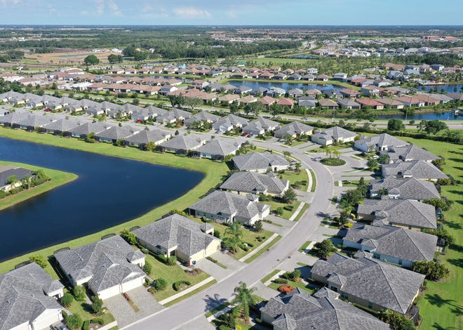 Eagle Trace is a single-family gated community just outside of Lakewood Ranch. Home sales in Sarasota-Manatee surged 11% over the year in August — the third straight monthly gain following big declines in March, April and May.