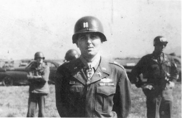 Charles Murray when he was promoted to captian in May 1945.