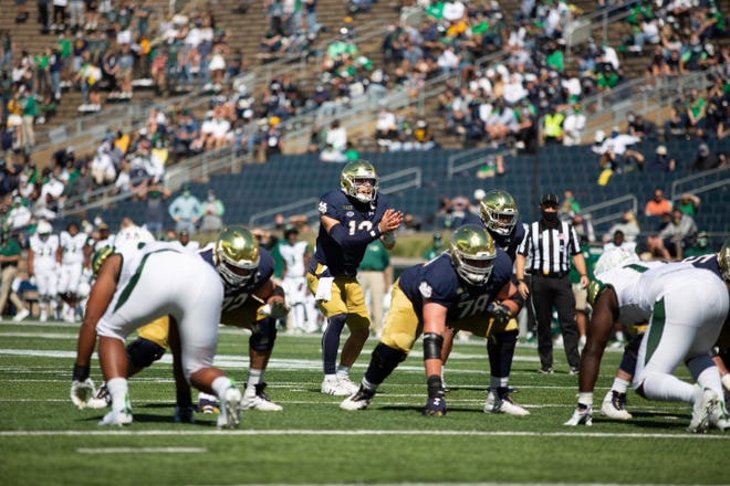 Notre Dame will not play Wake Forest on Saturday after a rise in positive COVID tests in the program this week. [NOTRE DAME ATHLETICS | ACC]