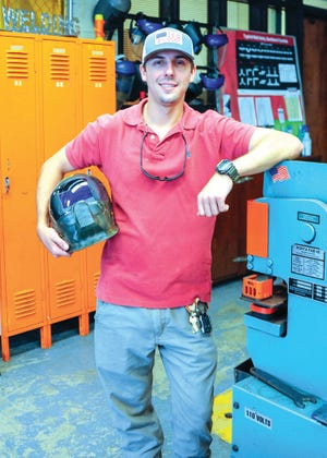 Jimmy Silver, a 2019 graduate of Pamlico Community College's Welding Technology program, has been hired as one of the college's full-time Welding instructors. He also is pursuing a bachelor's degree at East Carolina University. [CONTRIBUTED PHOTO]
