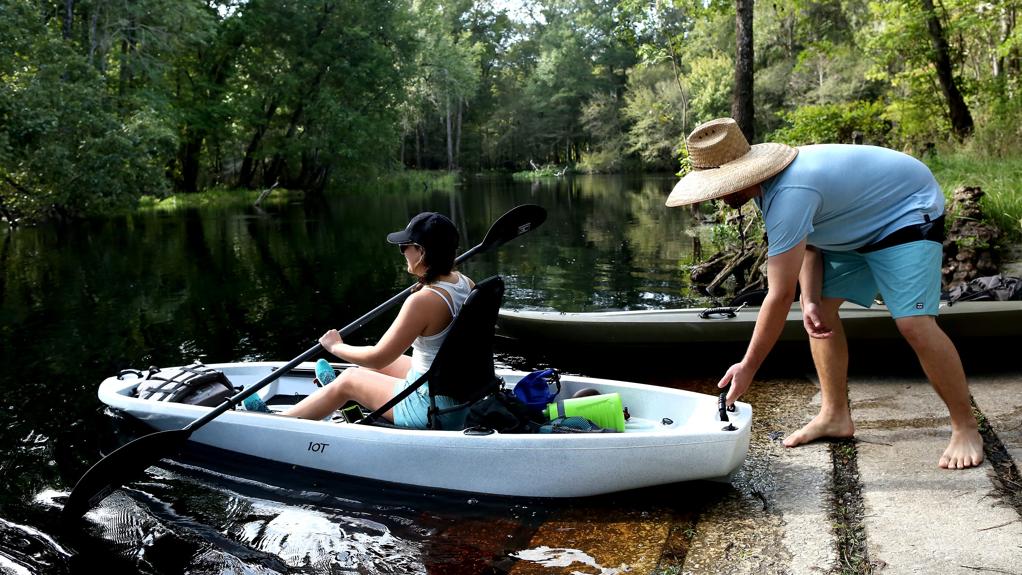 Rum Island Spring and Park reopened Monday with a few new additions, including a repaired boat launch for kayaks and canoes on the Santa Fe River.  [Brad McClenny/The Gainesville Sun]