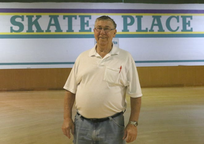 Ronald Sherrets stands inside Skate Place, which closed in March. He opened the business with late wife Jeanie in 1977. (TimesReporter.com / Jim Cummings)