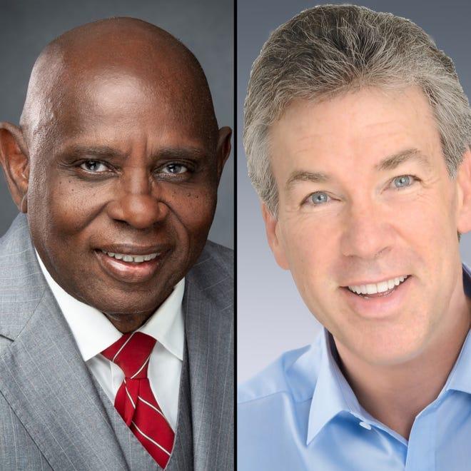 2020 candidates for Titusville City Council Seat 3: Joe Robinson (left); Marc Smith (right)