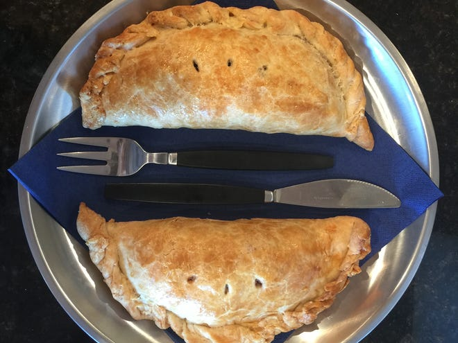 "Try your hand at making homemade ""hand pies"" with this vegetarian pasty recipe."