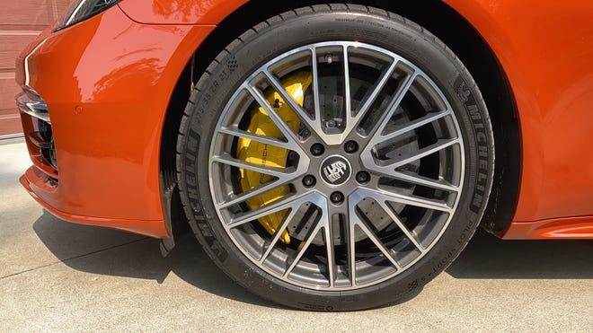 Ceramic brakes are standard on the Porsche Panamera Turbo S