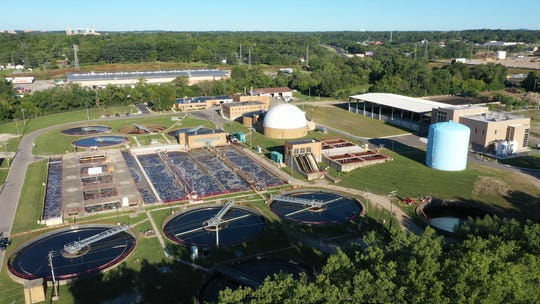 This aerial view, provided to the Free Press on Sept. 21, 2020, shows Oakland County's sewage plant in Pontiac after the addition of new processes that turn sewage from human waste into farm fertilizer. (Photo: Oakland County Water Resources.)
