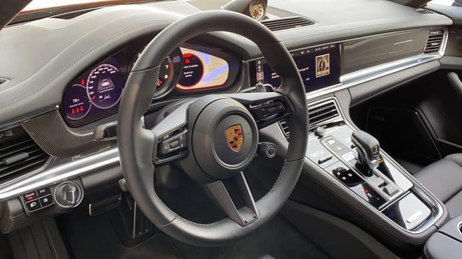Porsche Panamera Turbo S instrument panel and center console.