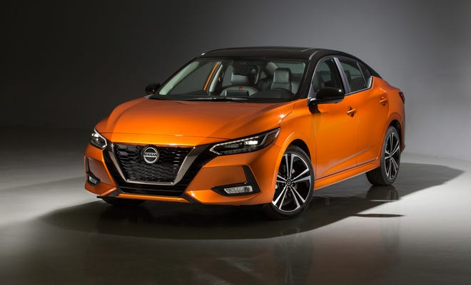 The 2020 Nissan Sentra's new body is about 2 inches lower and 2 inches wider than the previous generation. (Nissan/TNS)