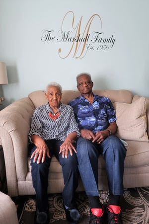 Harriett and Tommy Marshall were married on Sept. 24, 1950, in Corinth, Miss. Thursday is their 70th wedding anniversary.