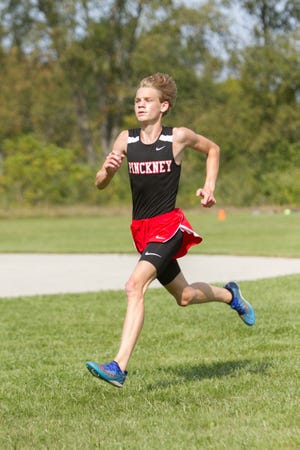 Pinckney's Caleb Jarema was fourth in 15:32.3, leading the Pirates to second place in the Bulldog Elite Invitational in Otsego.