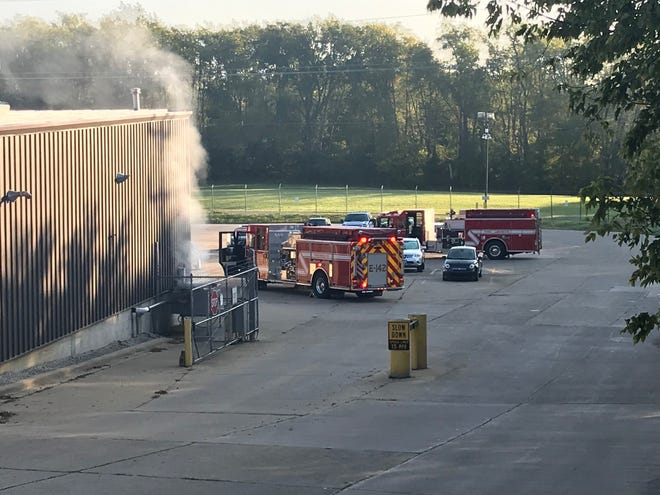 Stoneridge Control Devices in Lexington had a fire at the plant at 8:01 a.m. Tuesday. No one was injured, according to Troy Township Fire Department, who confirmed everyone was evacuated due to smoke throughout the building.