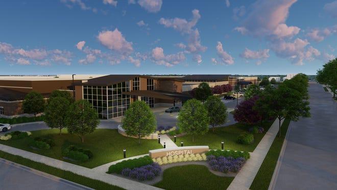 A rendering shows what Granite Hills Hospital will look like when complete in August 2021. The $33 million, 120-bed behavioral health hospital, which will be owned and operated by Universal Health Services, will be located at 1706 S. 68th St. in West Allis.