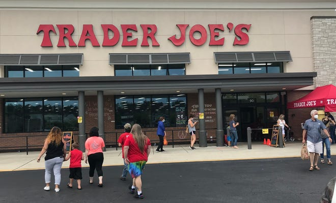 Customers head into Trader Joe's on White Bridge in Nashville, Tenn. The store is one of two in Nashville.