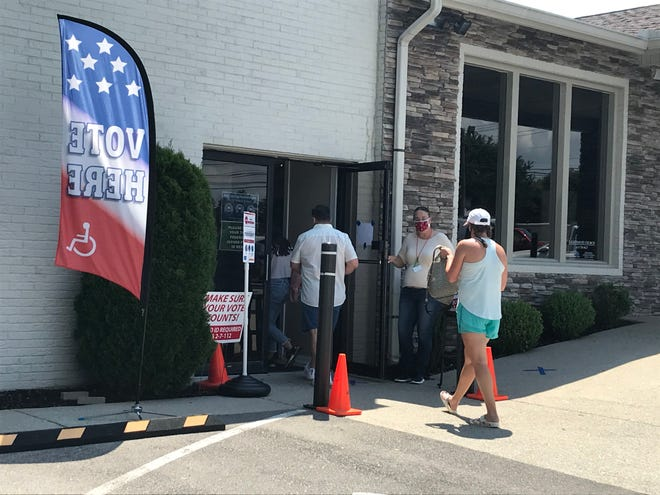 Voters in August at Lighthouse Church in Wilson County.