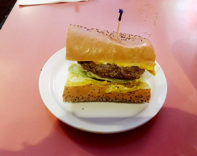 Rotier's Restaurant is known for its cheeseburger on French bread, here Feb. 2018.