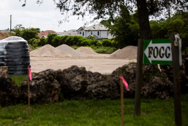 A public charter school is slated to take the place of Fogg's Nursery in North Naples, photographed on Tuesday, September 22, 2020. Nursery owner Stanley Fogg Jr. is currently involved in a code enforcement case after nearby residents complained that Fogg was crushing and processing rock illegally.