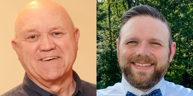 Incumbent Charles Feicht, left, is facing Seth Vensil in the Muskingum County coroner race. Both men are physicians who practice locally.