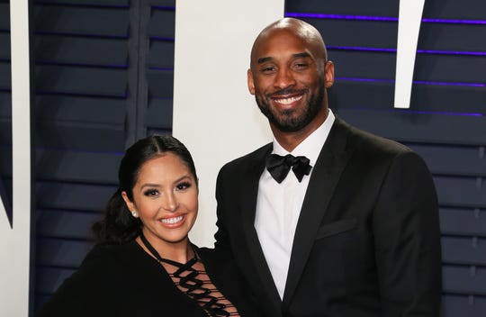 Kobe Bryant and wife Vanessa attend the 2019 Vanity Fair Oscar Party following the 91st Academy Awards.