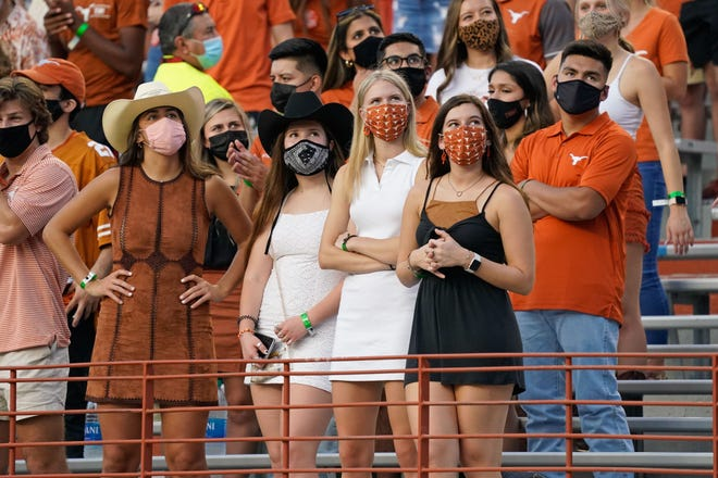 Last year, going to Royal-Memorial Stadium to watch Texas play meant you had to wear a mask, but masks will be optional for Longhorns games this season. UT officials are planning for 100% stadium capacity, too. This year's season opener will be Sept. 4 against No. 23 Louisiana.