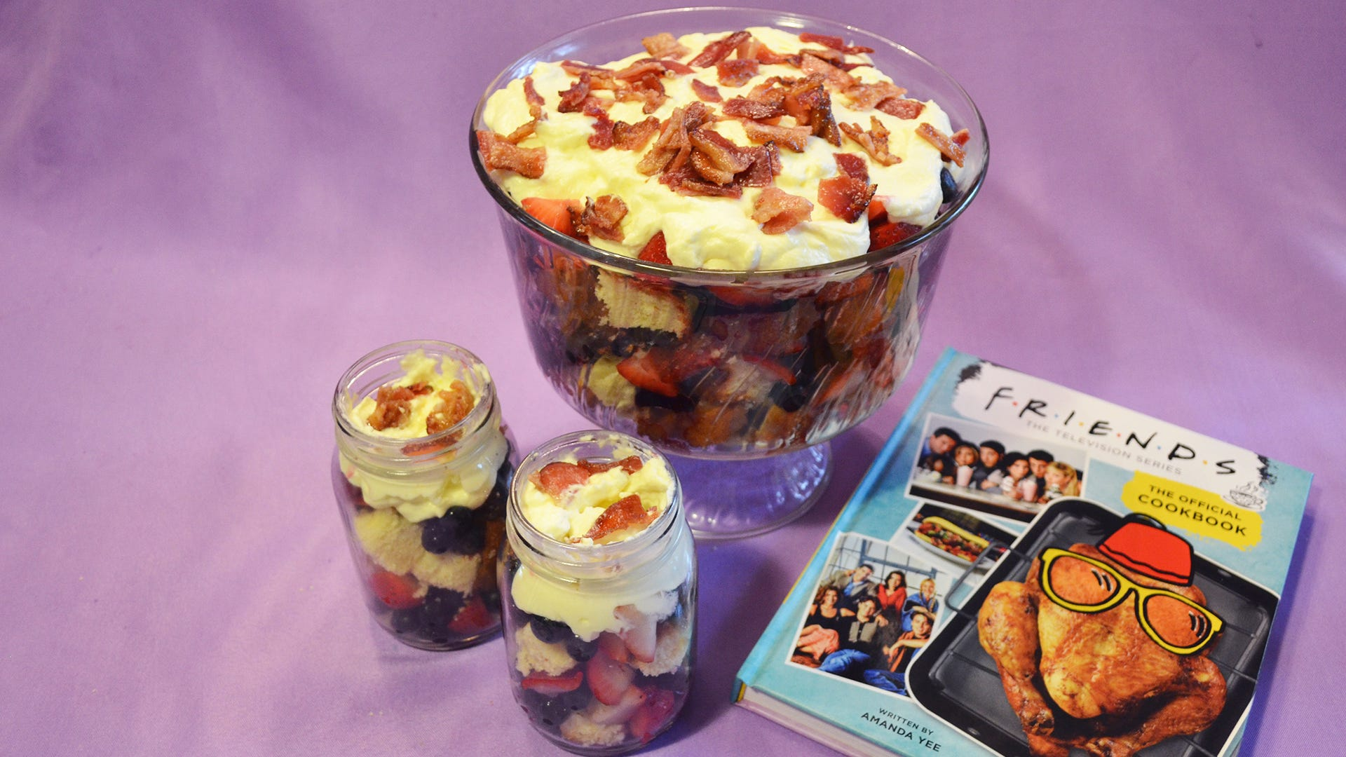 'Friends: The Official Cookbook': Watch us make Rachel's infamous meat trifle