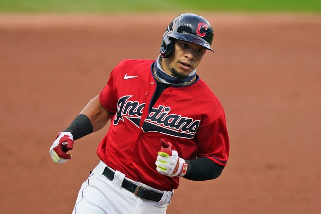 The Indians are reportedly re-signing free-agent second baseman Cesar Hernandez to a one-year contract plus a club option. [Tony Dejak/Associated Press]