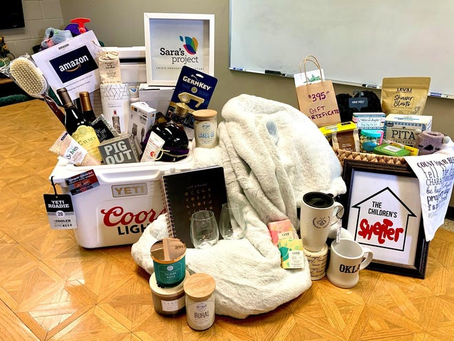 The quarantine survival basket put together by the Community Children's Shelter and Sara's Project. The two organizations have teamed up to raise money for United Way.