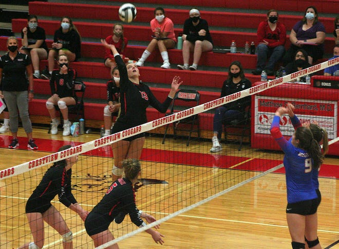 Crestview's Kenedi Goon was named the MaxPreps Player of the Week for breaking the single-game school record for kills.
