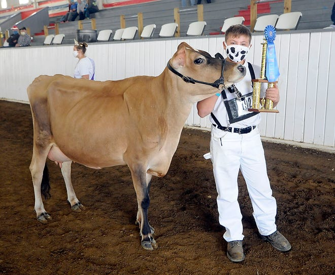 Vito Asaro had the supreme champion dairy during the Junior Fair Dairy Show on Tuesday at the Ashland County Fair.