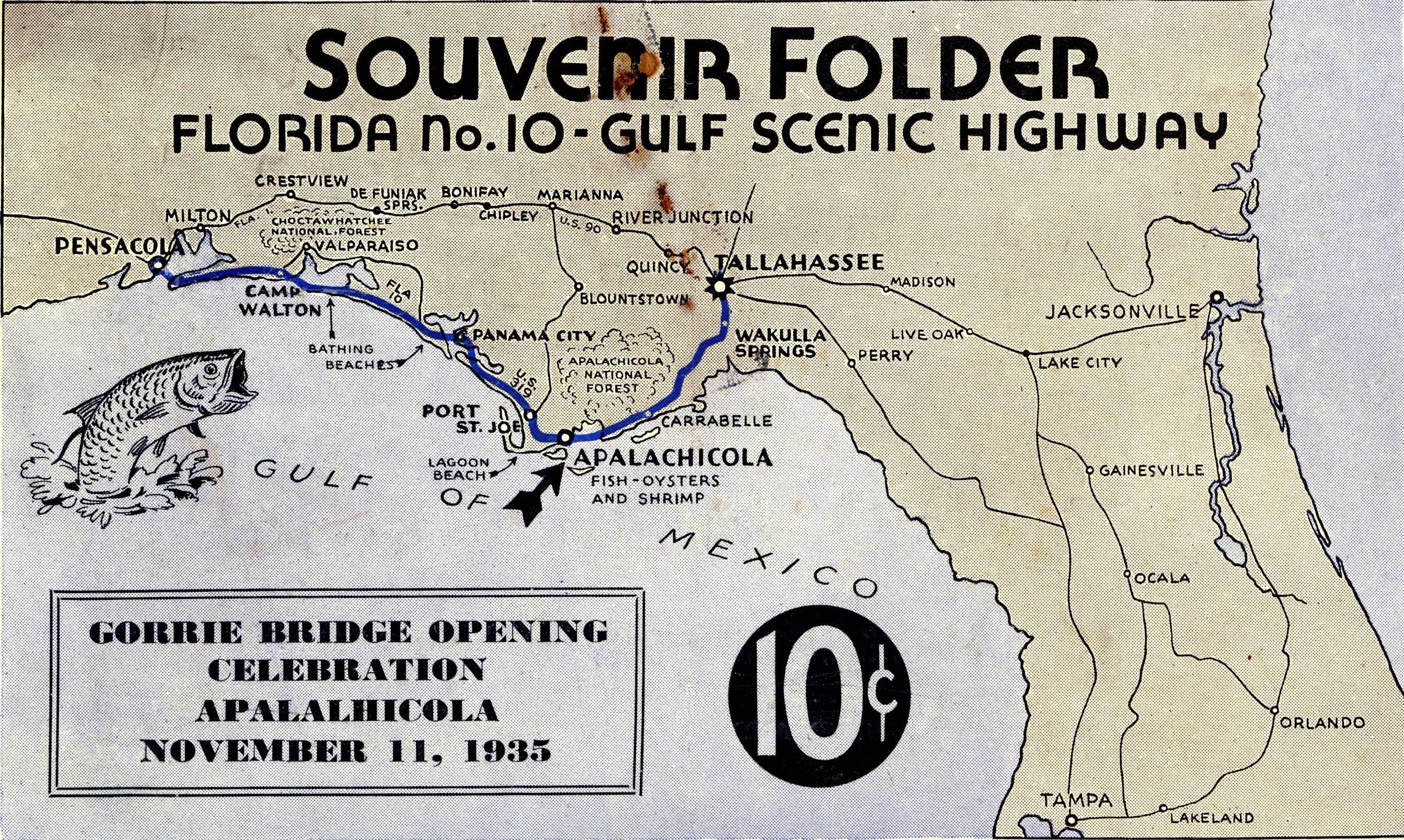 The front cover of the Souvenir Booklet for the 1935 opening of the John Gorrie Bridge.