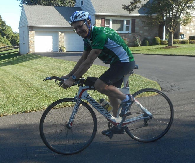 Bob Richey heads out on a bike ride