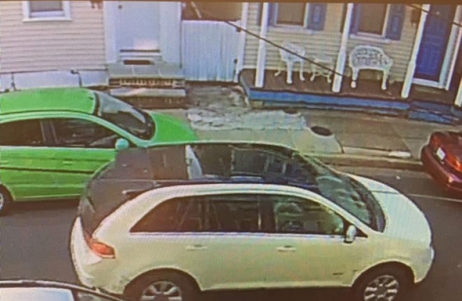 Bristol Borough police said a man driving this vehicle opened fire on a group of people in the 200 block of Wood Street Tuesday.