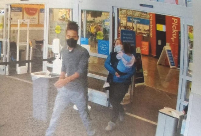 Police said the man on the left punched a special needs teen in the face at the Walmart in Richland Saturday.