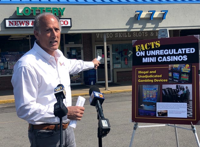 "Tom Marino, vice president of government affairs for Pace-O-Matic's Pennsylvania Skill, called on law enforcement to crack down on ""illegal"" gaming operations Sept. 22 in Hopewell Township."