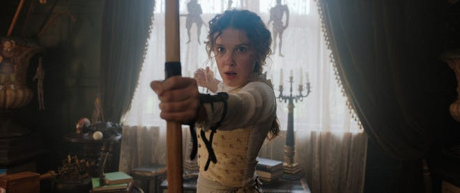 """Millie Bobby Brown stars as the title character and sister of Sherlock Holmes in """"Enola Holmes."""""""