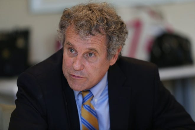 Senator Sherrod Brown, D-OH, meets with constituents in Columbus on September 3, 2019. [Maddie Schroeder/Dispatch]