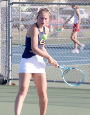 Brekken Tull won her match at No. 3 singles Thursday, helping Crookston to a win over Park Rapids.