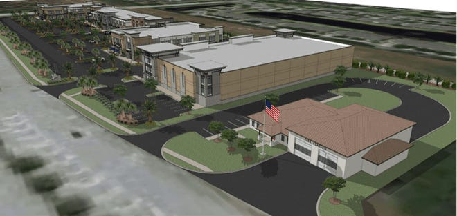 Fire Station 63 design drawing.