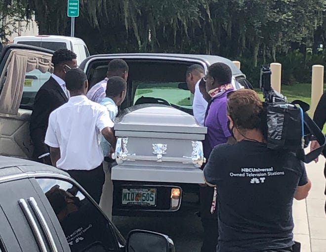 Protesting law-and-order legislation proposed by Gov. Ron DeSantis, Black Lives Matter Restoration Polk arrived at Polk County Sheriff's Office headquarters Wednesday in a hearse and carried an empty coffin into the agency's Winter Haven facility. DeSantis' announcement came during a press conference at PCSO headquarters on Monday.