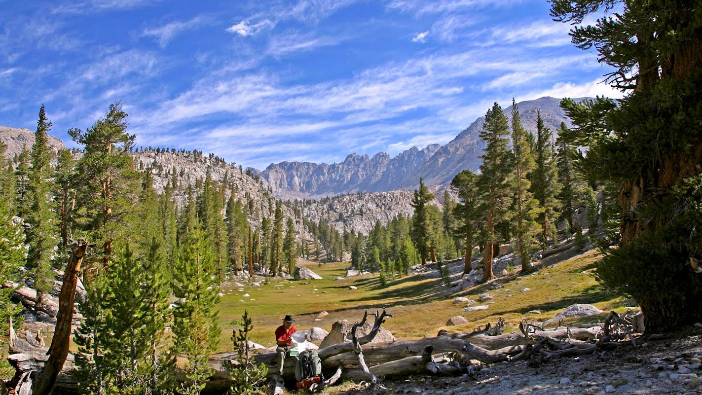 Tom Stienstra on the Pacific Crest Trail at Soldier Basin.
