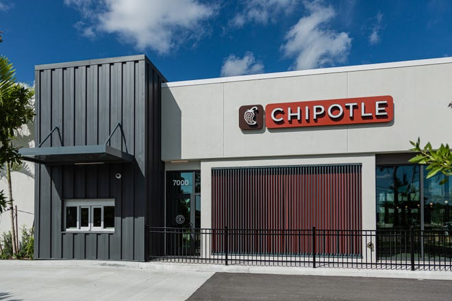 Chipotle Mexican Grill opened a new location at 7000 Okeechobee Blvd., in West Palm Beach, featuring a Chipotlane, a drive-thru pickup lane allowing customers to pick up digital orders without leaving their cars. Image captured Wednesday, September 23, 2020.