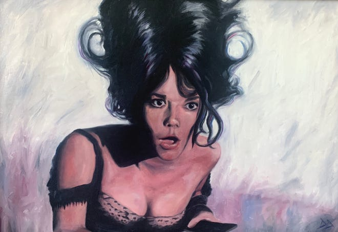 """Natalie Wood,"" an oil painting by Drew Dudek"