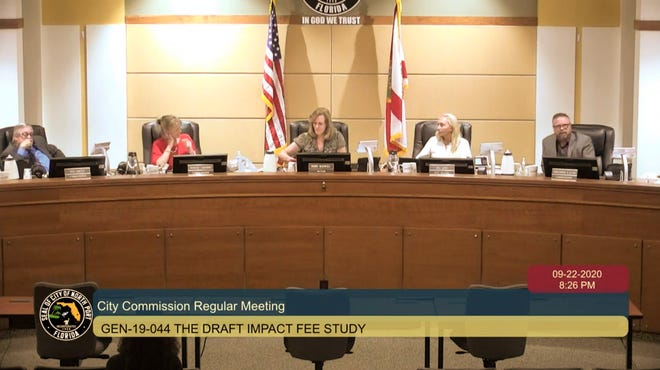 North Port city commissioners discuss a new 2020 impact fee ordinance.