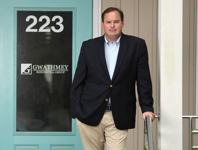 William Gwathmey, president of Gwathmey Residential Group, LLC, stands at his office in Wilmington, N.C., Friday, Aug. 7, 2020. Gwathmey is one of the 40 Under 40 honorees for 2020.