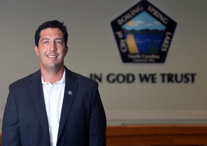 Boiling Spring Lakes Commissioner and Mayor Pro Tempore Steven Barger at City Hall in Boiling Spring Lakes, N.C., Thursday, July 23, 2020. Barger is one of the 40 Under 40 honorees for 2020.  [MATT BORN/STARNEWS]