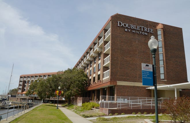 After being closed in September 2018 due to damages from Hurricane Florence, the DoubleTree Hilton in downtown New Bern is scheduled to reopen in November. [SUN JOURNAL FILE PHOTO]